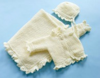 Baby Christening Set (Free Knitting Pattern)