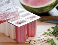 Popsicle Recipe — Watermelon Popsicles with Parsley