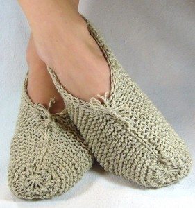 Easy Knit Slippers (Free Knitting Project)
