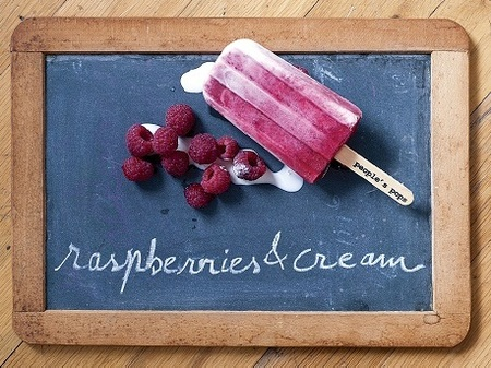 Popsicle Recipe — Raspberries and Cream Popsicles