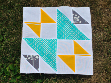 Bowties Blooms Quilt Block