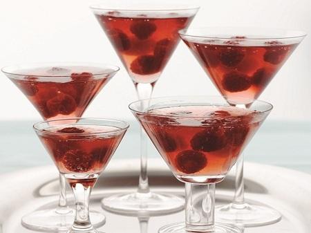 Raspberry Jell-O Cosmo Recipe