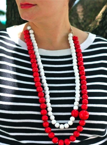 DIY Necklace with Painted Beads