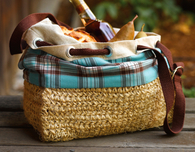 Crochet Basket with Drawstring (Free Crochet Pattern)