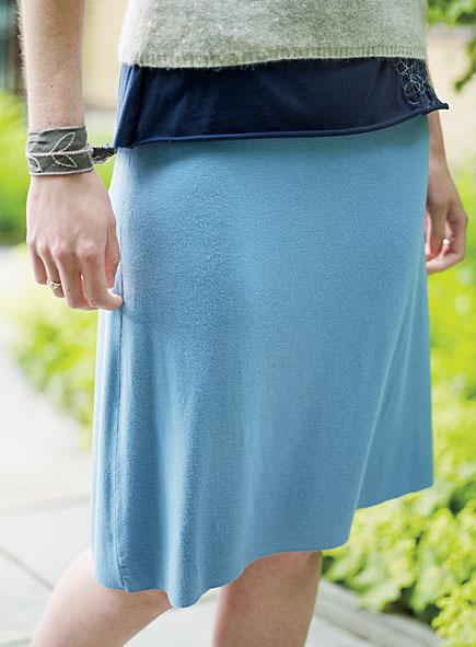 Patternless A-Line Skirt