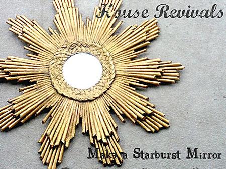 Recycled Starburst Mirror