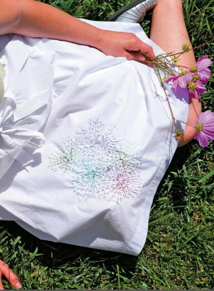 Sashiko Fireworks — Free Hand Embroidery Design