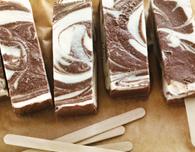 Chocolate-Vanilla Swirl Popsicles