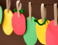 Paper Apple Garland