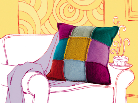 Upcycled Sweater Pillows
