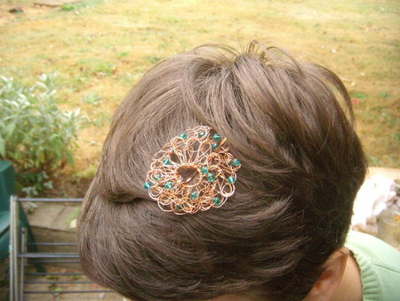 Crochet Wire Jewelry Hair Clip