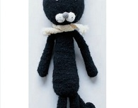 Curly Tailed Cat (Free Crochet Pattern)
