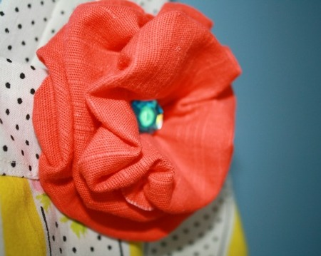Easy Peasy Fabric Flower