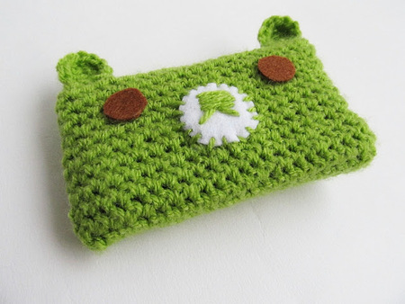 Crochet Kawaii Bear Phone Cosy