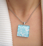 Glass Crafts — Tile Pendant Necklace