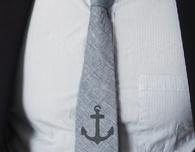 Stencil a Men's Tie