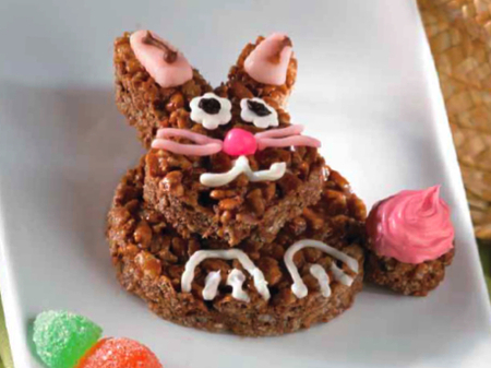 Chocolate Bunny Rice Krispies Treats