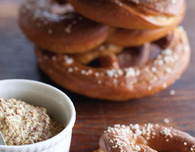 Soft Pretzels with Grainy Mustard