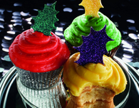 Holly Leaf Christmas Cupcake Toppers
