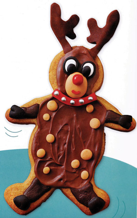 Reindeer Gingerbread Cookies (Recipe)