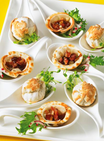 Chicken and Mushroom Phyllo Tarts