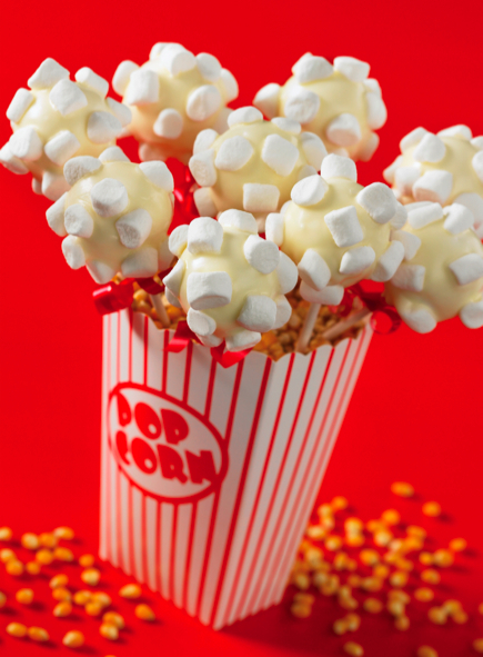 Popcorn Cake Pop Centerpiece   Edible Crafts