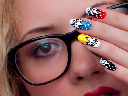 Superhero nail art craftfoxes superhero nail art prinsesfo Gallery