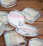 Handmade Wedding Favors — Collage Paperweights