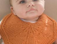 Free Knitting Pattern—Orangelo Bib