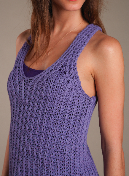 Knitting Patterns For Children s Tank Tops : Knit Tank Top (Free Knitting Pattern) - Craftfoxes