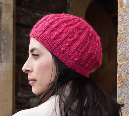 Raspberry Beret Free Knitting Pattern Craftfoxes