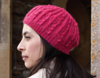 Raspberry Beret (Free Knitting Pattern)