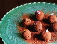 Chocolate Truffles Three Ways (with Ginger, Salted Caramel and Rose)