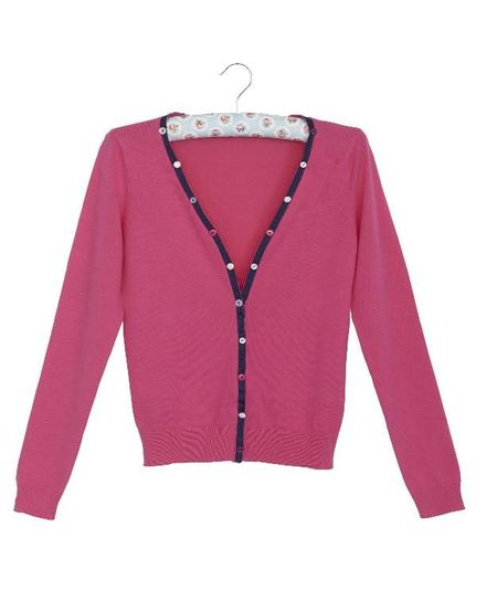 Add Ribbon Trim to a Cardigan