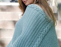Plus-Size Intertwined Poncho (Free Crochet Pattern)