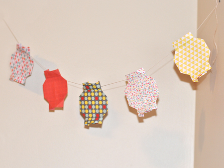 Party Origami Lantern Bunting