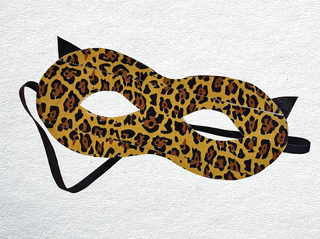 Duct Tape Crafts — Leopard Mask