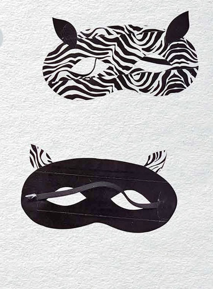 Duct Tape Crafts — Zebra Mask