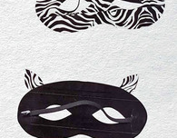 Duct Tape Crafts — Zebra Mask
