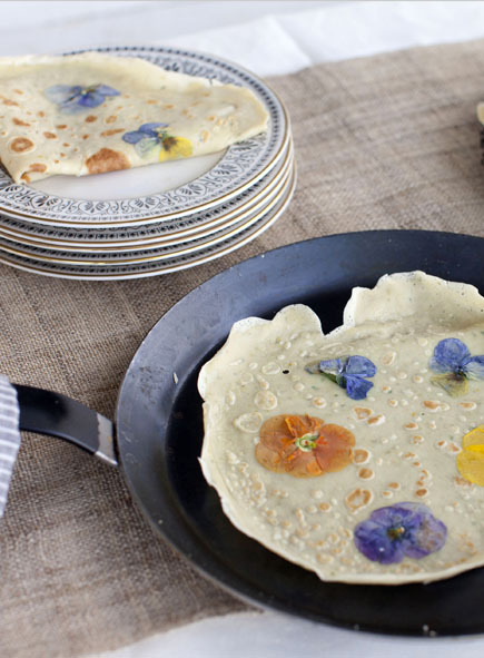 Pansy Petal Pancakes