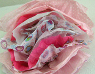 Tissue Paper Flower from Baby Shower Gift Wrap