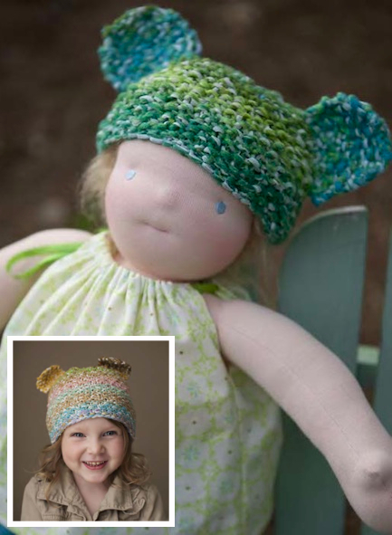 Knitting Pattern For A Dolls Hat : Jesse Doll Bear Hat (Free Knitting Pattern) - Craftfoxes