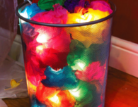 Making Lights from Tissue Paper