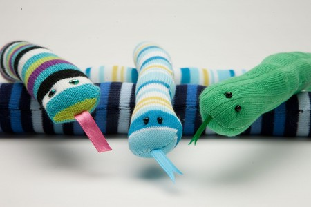 Striped Snake Sock Craft