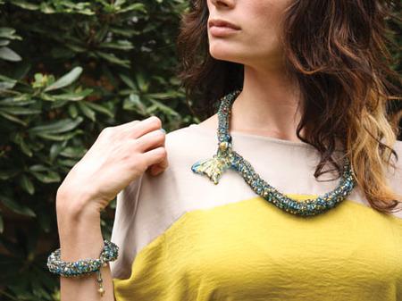 Butterfly Necklace and Bracelet
