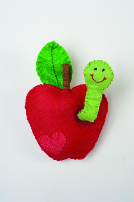 Felt Apple & Worm Sewing Pattern
