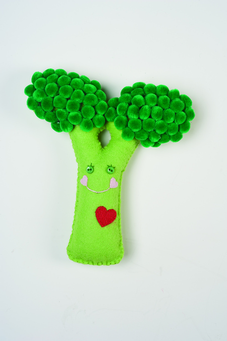 Secret Garden Felt Pattern: Broccoli