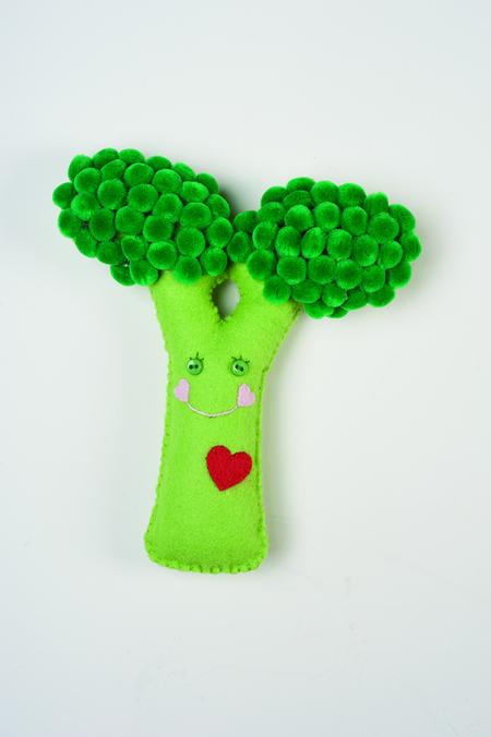 Secret Garden Felt Pattern: Broccoli