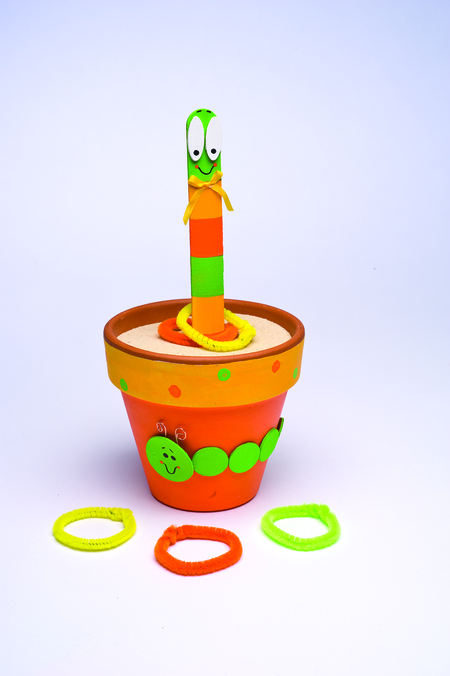 Wiggly Worm Ring Toss Game for Kids