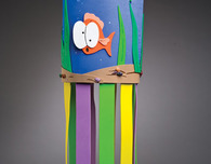 Foam Tropical Windsock Craft for Kids